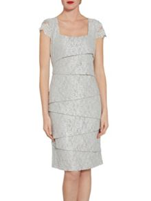 Gina Bacconi Layered lace dress