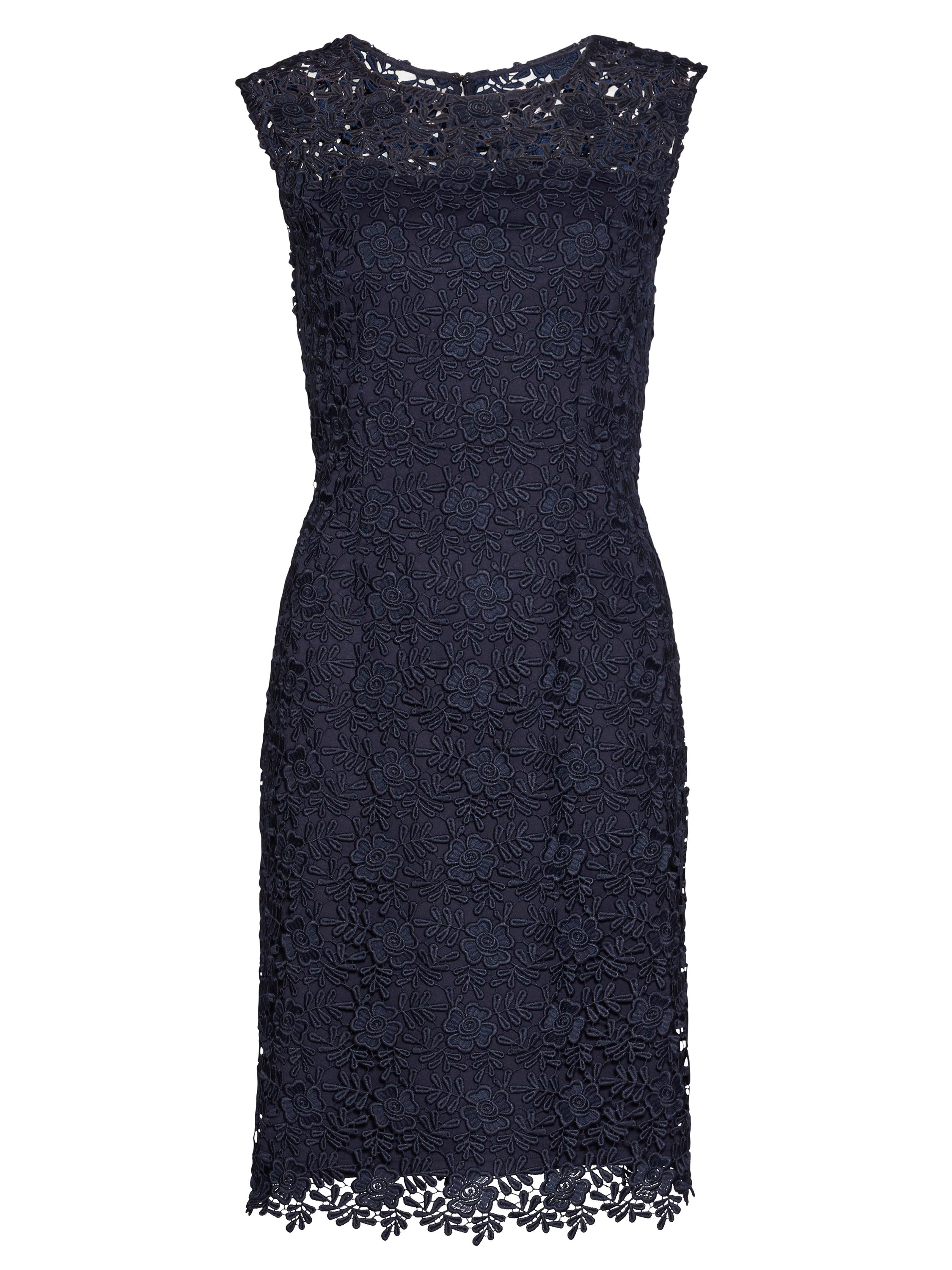 Gina Bacconi Matt primrose guipure dress, Blue