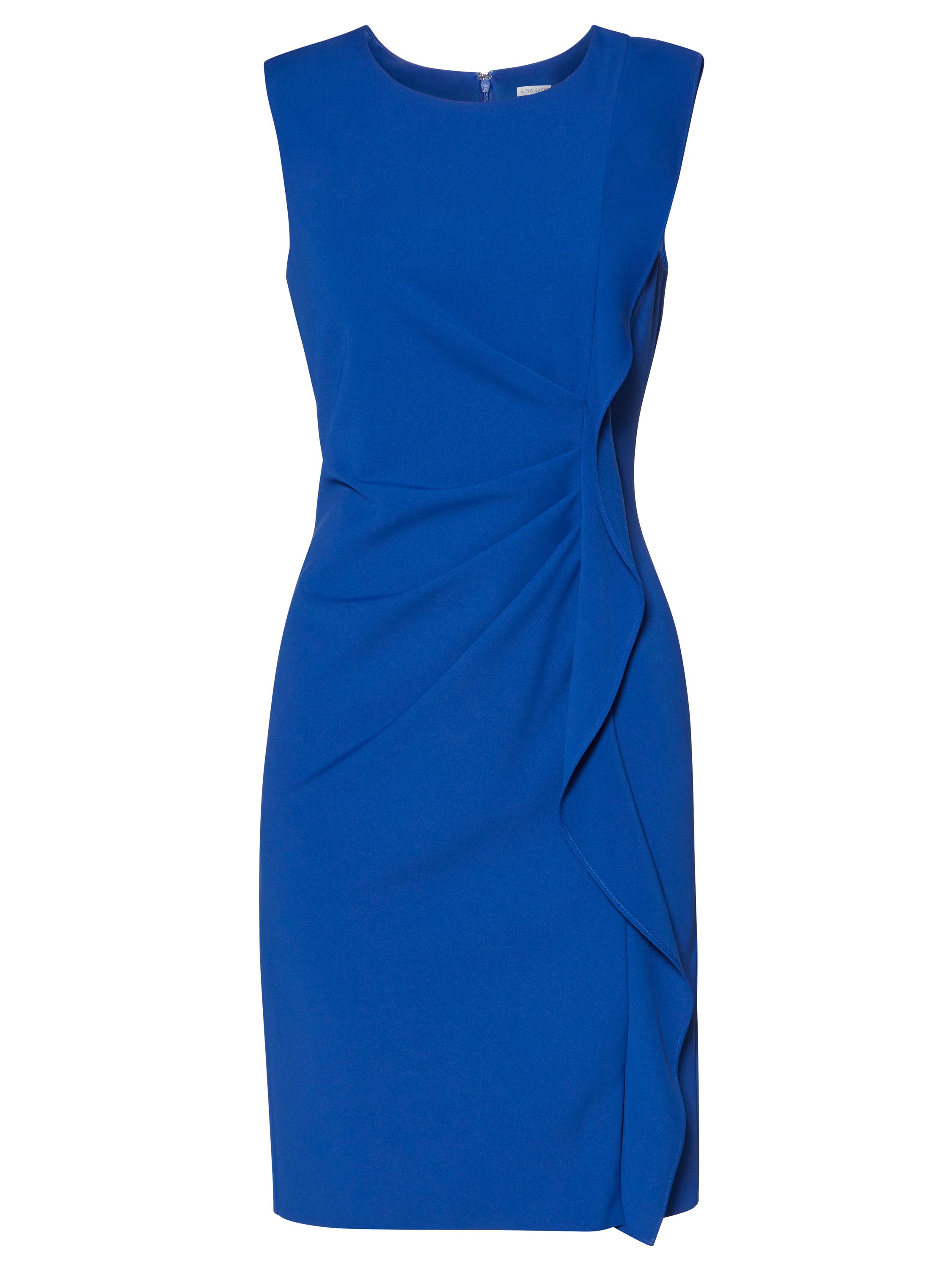 Gina Bacconi Naomi Frill Dress, Blue