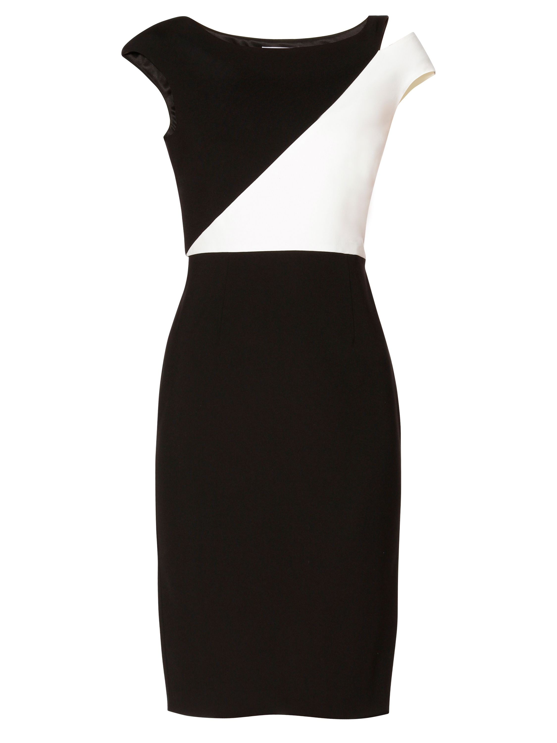Gina Bacconi Zoe Contrast Panel Dress, Black