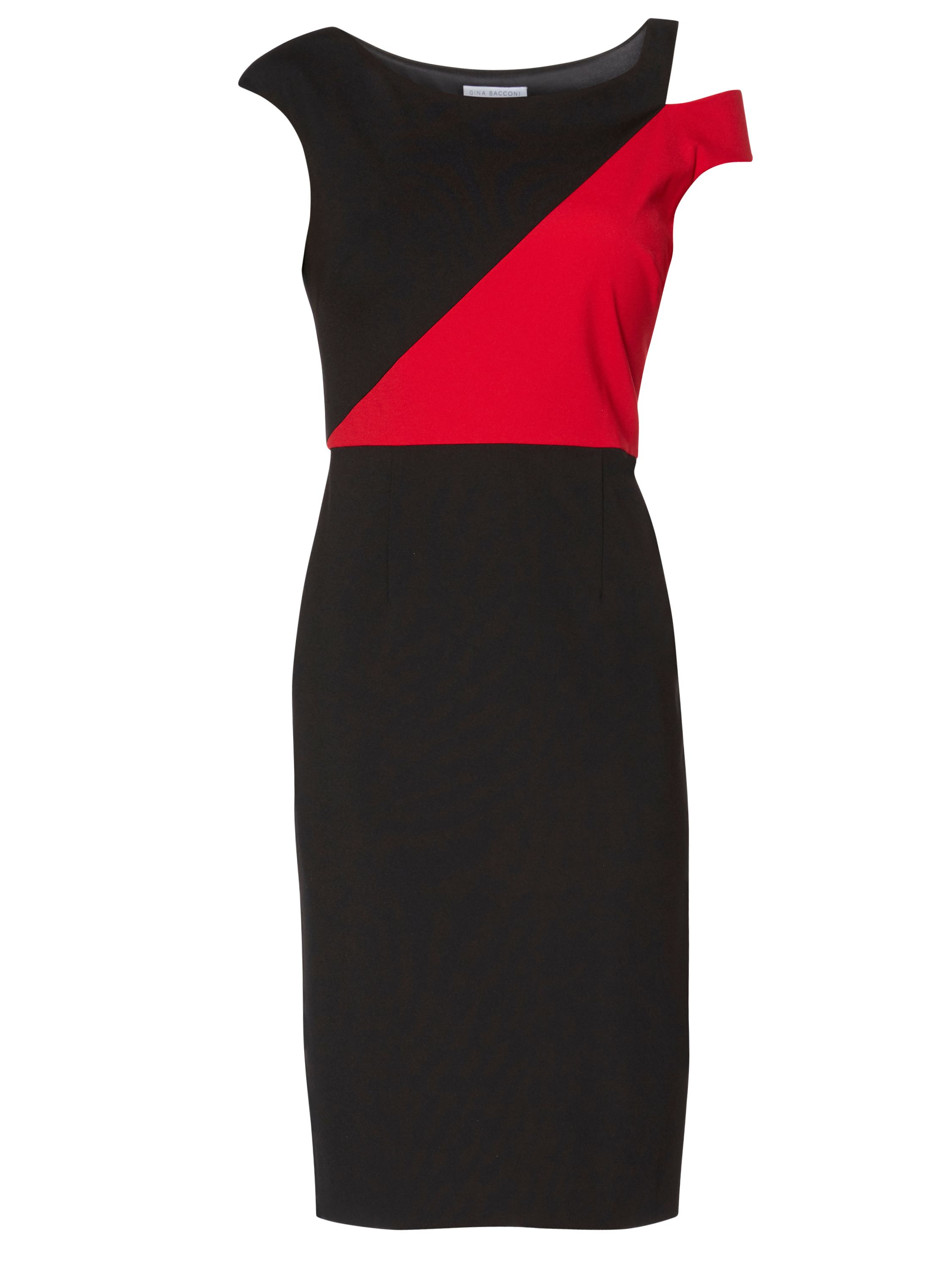 Gina Bacconi Zoe Contrast Panel Dress, Multi-Coloured