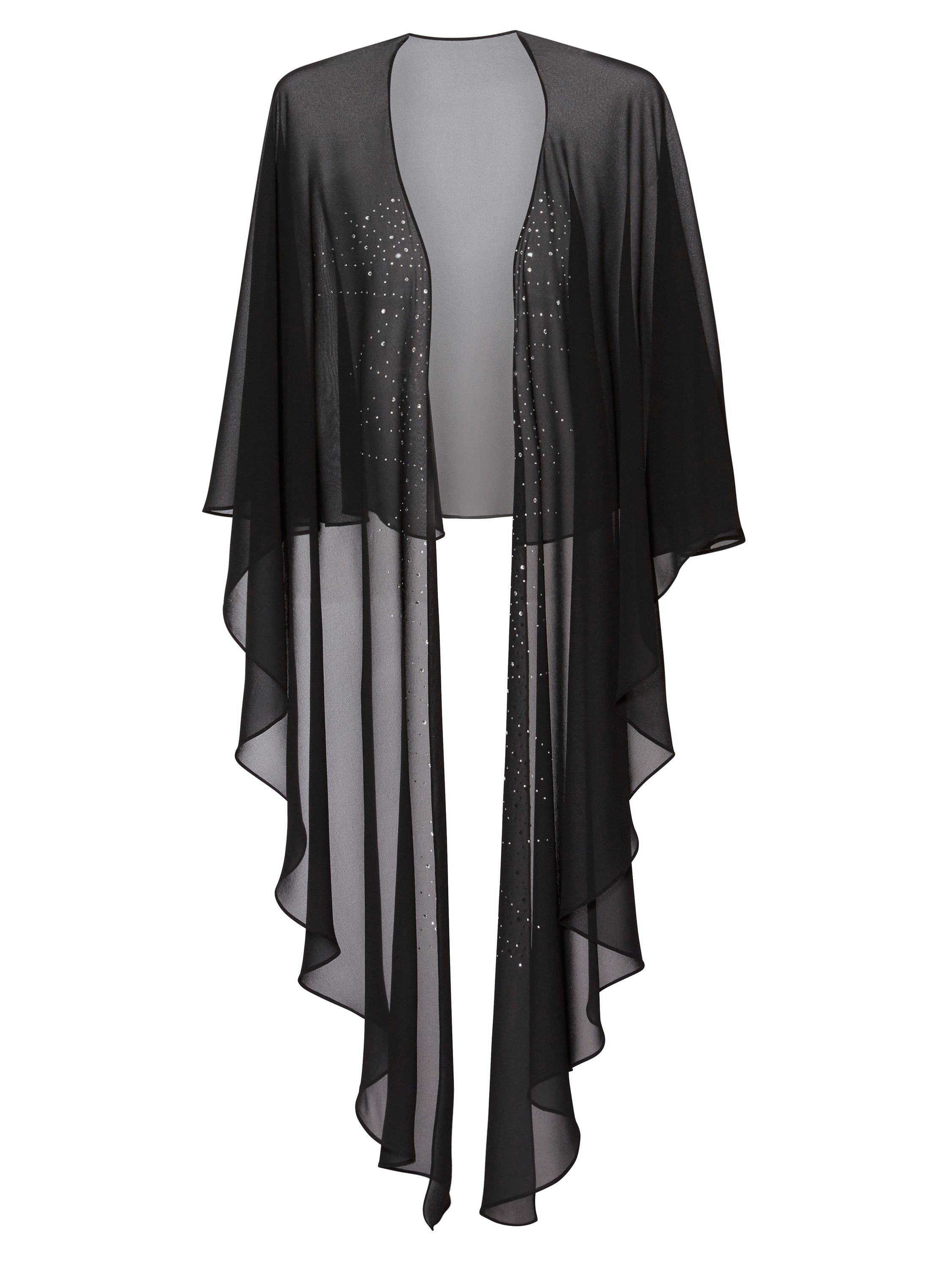 Gina Bacconi Freya Diamante Shawl, Black