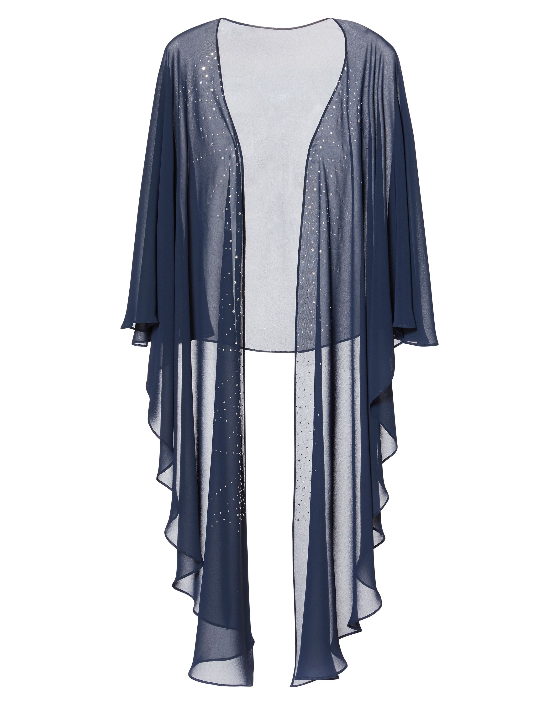 Gina Bacconi Freya Diamante Shawl, Blue