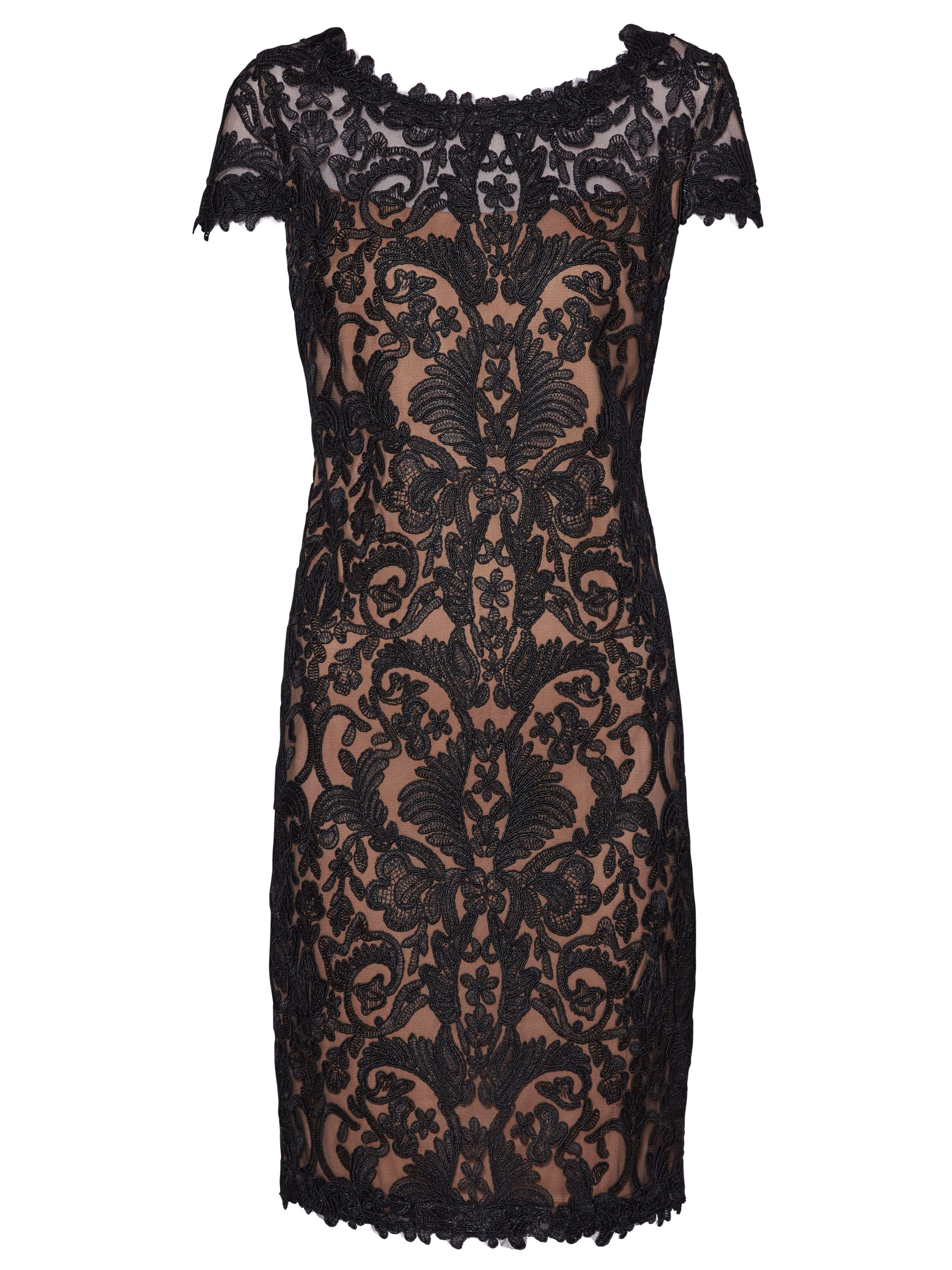 Gina Bacconi Tabitha Embroidery Dress, Black
