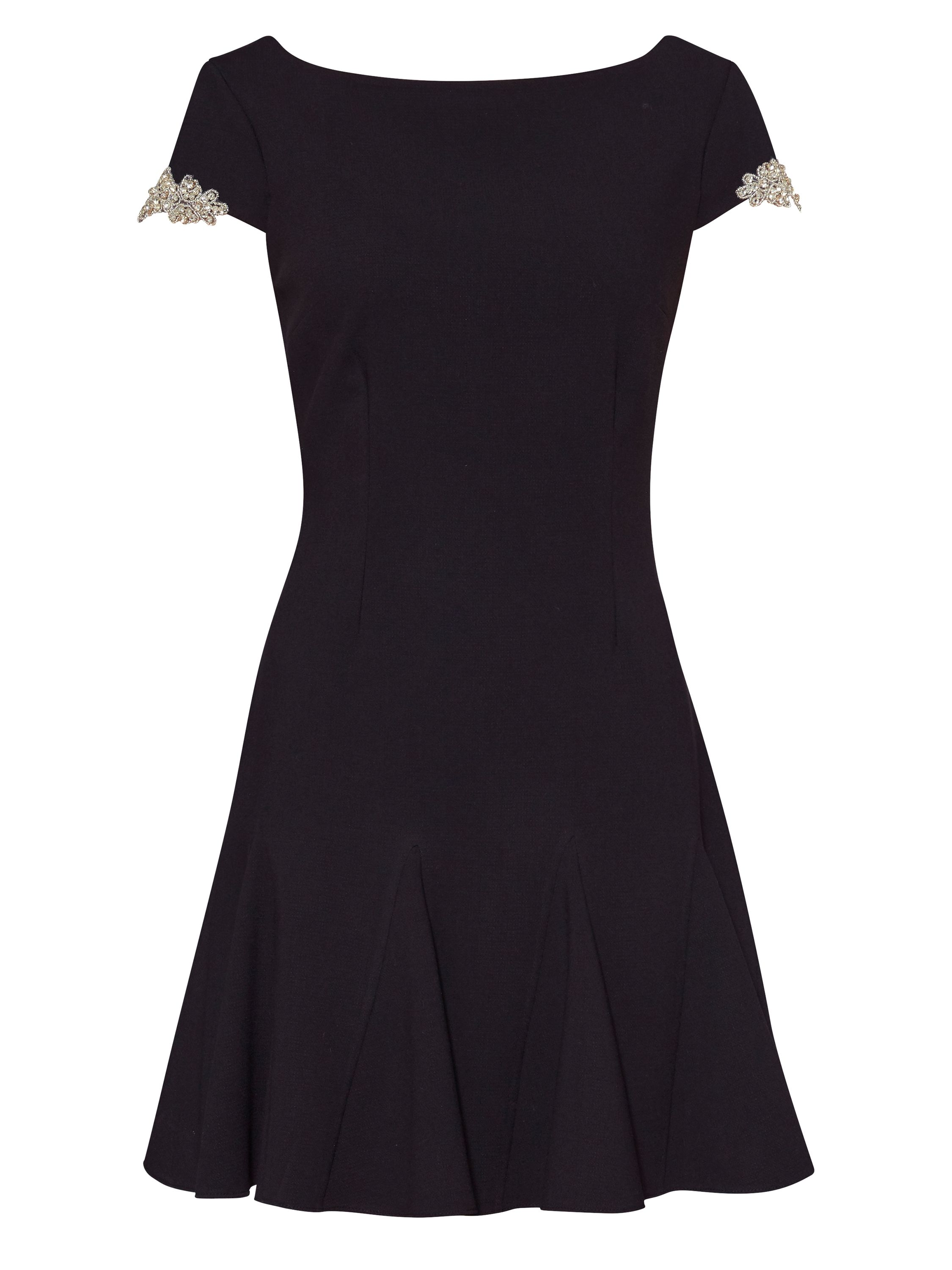 Gina Bacconi Emma Godet Dress, Black