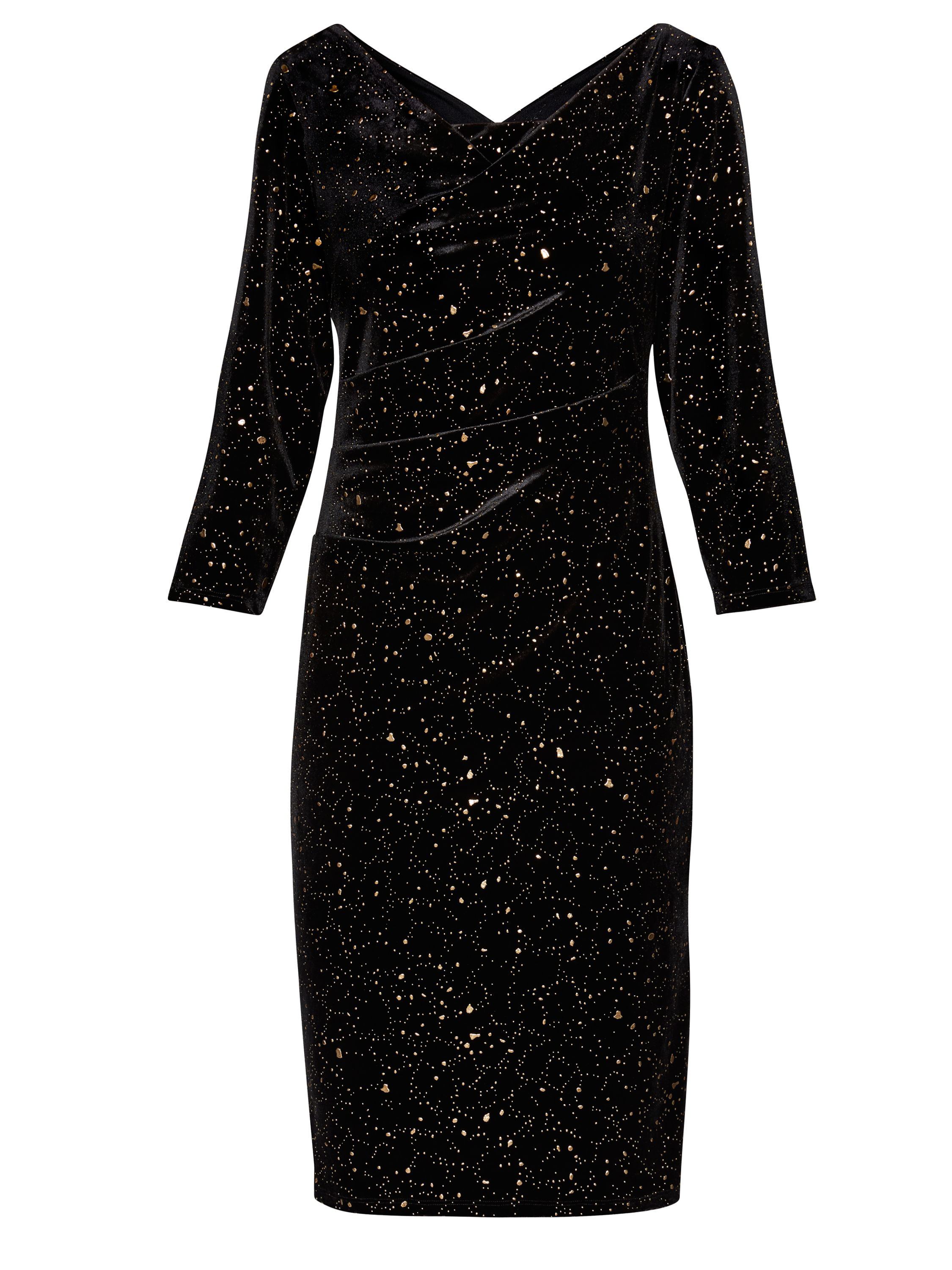 Gina Bacconi Kelly Velvet Dress, Black