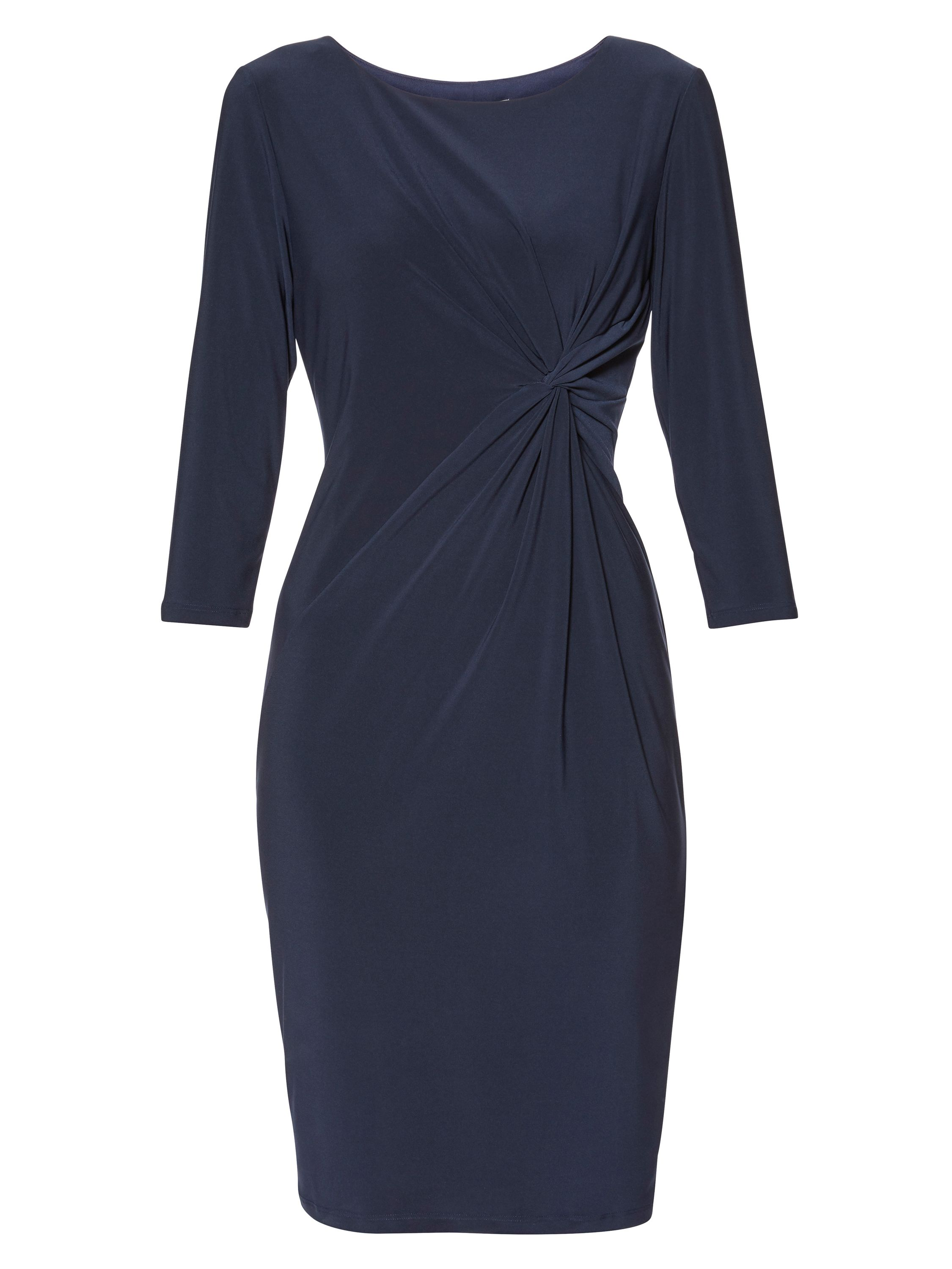 Gina Bacconi Sally Jersey Knot Dress, Blue