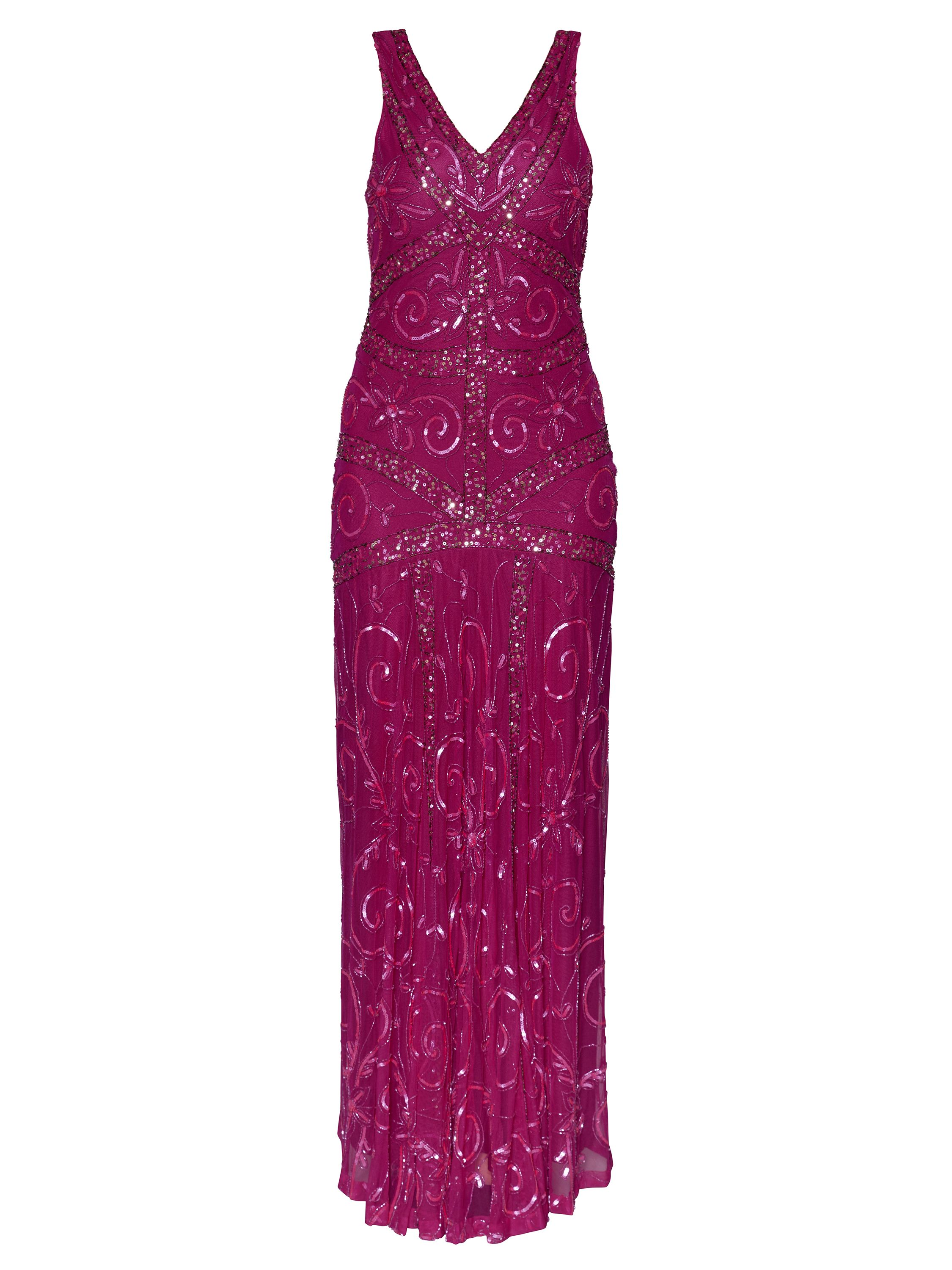 Gina Bacconi Iris Beaded Maxi Dress, Pink