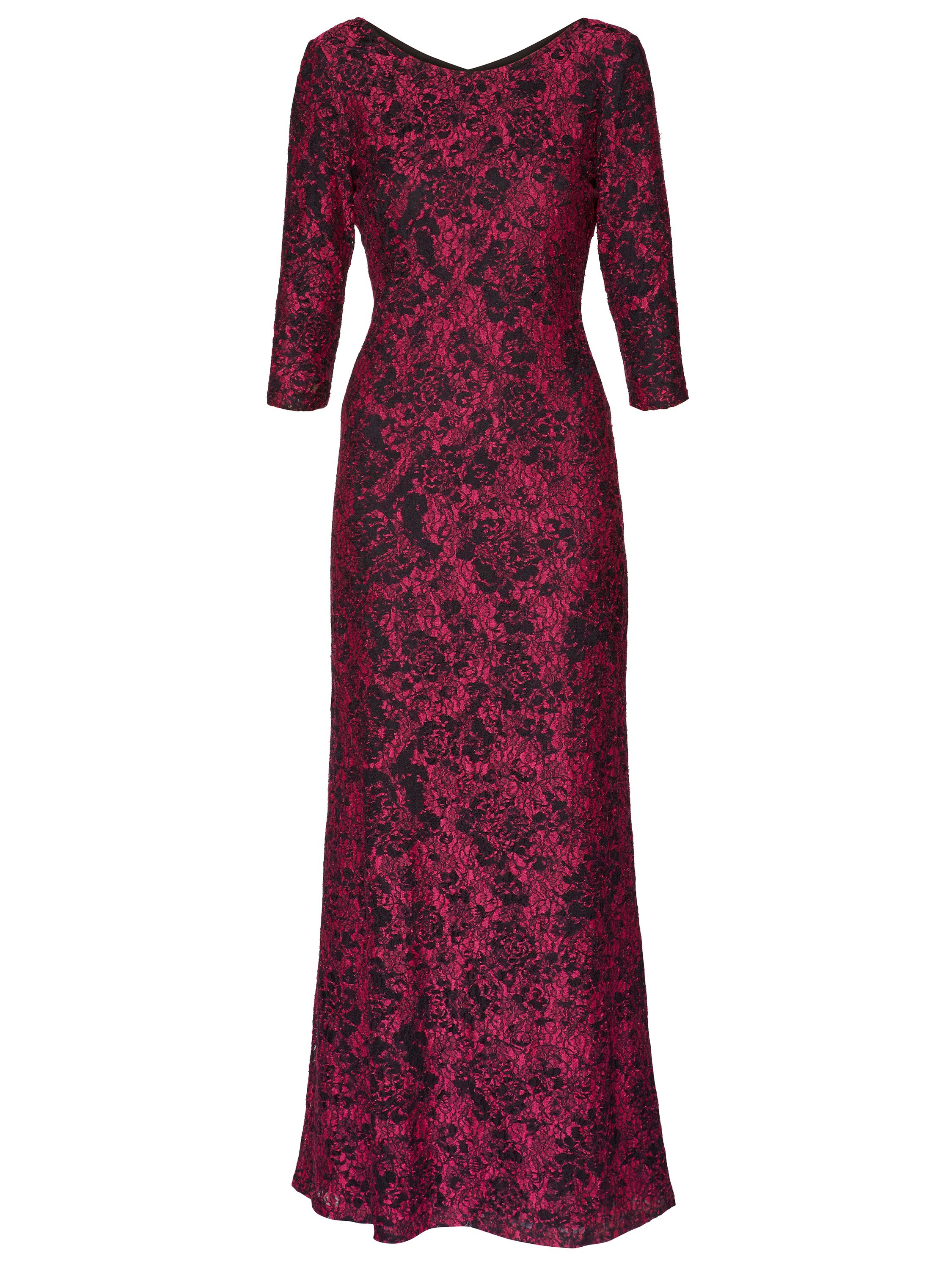 Gina Bacconi Phyllis Lace Maxi Dress, Pink