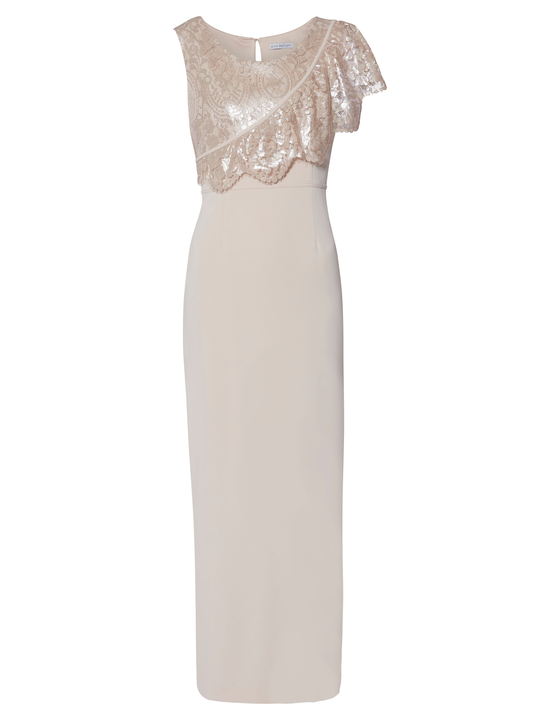 Gina Bacconi Henrietta Maxi Dress, Dusty Pink
