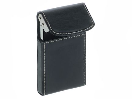 credit card holder for men. Faux leather business card