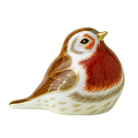 Royal Crown Derby Royal robin paperweight