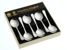 Britannia silver plated box of 6 fruit spoons