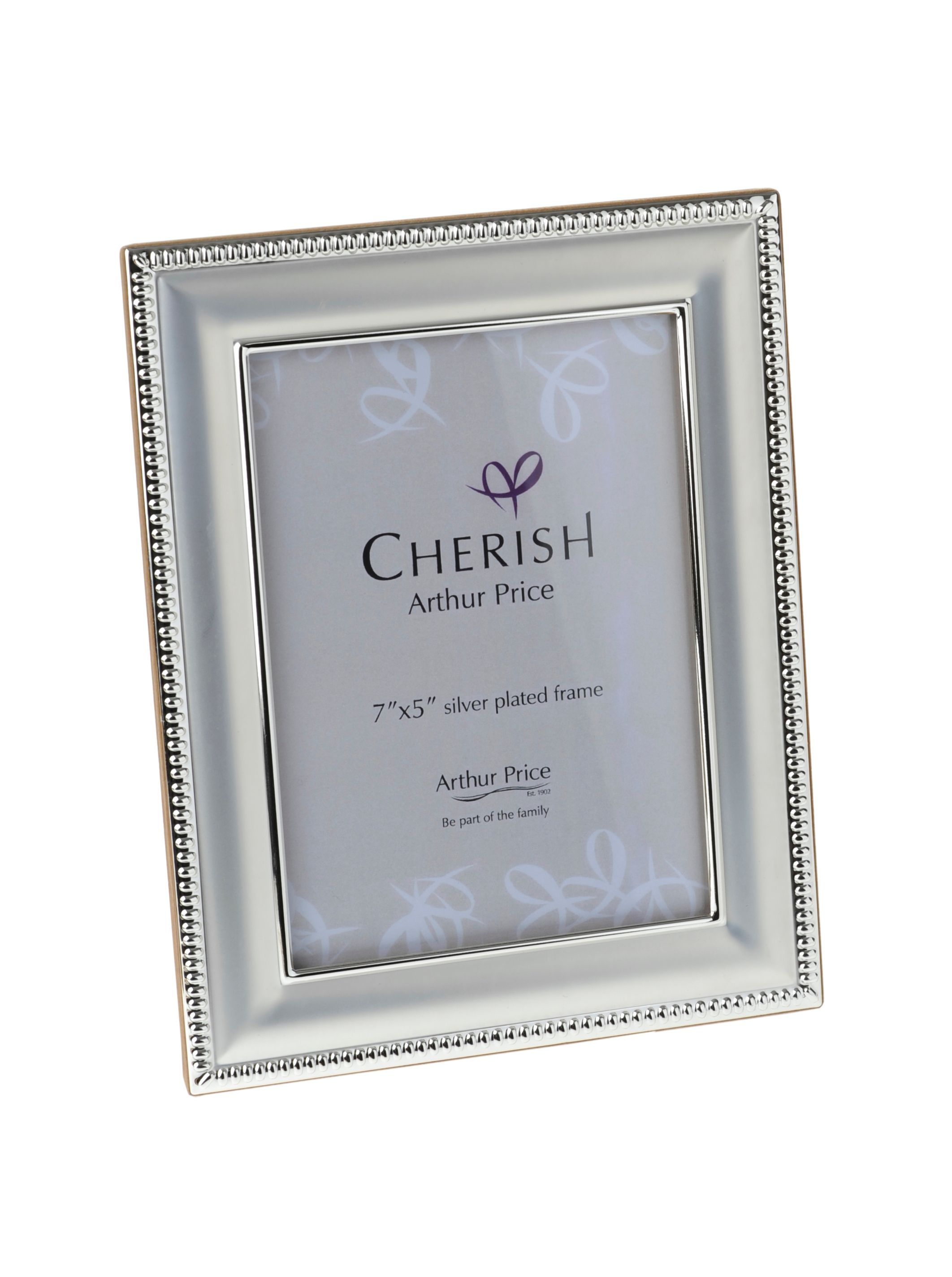 Silver plated 5 x 7 Bead photograph frame