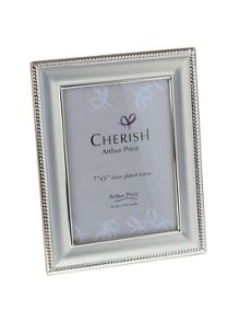 Arthur Price Silver plated Bead photograph frame 5x7