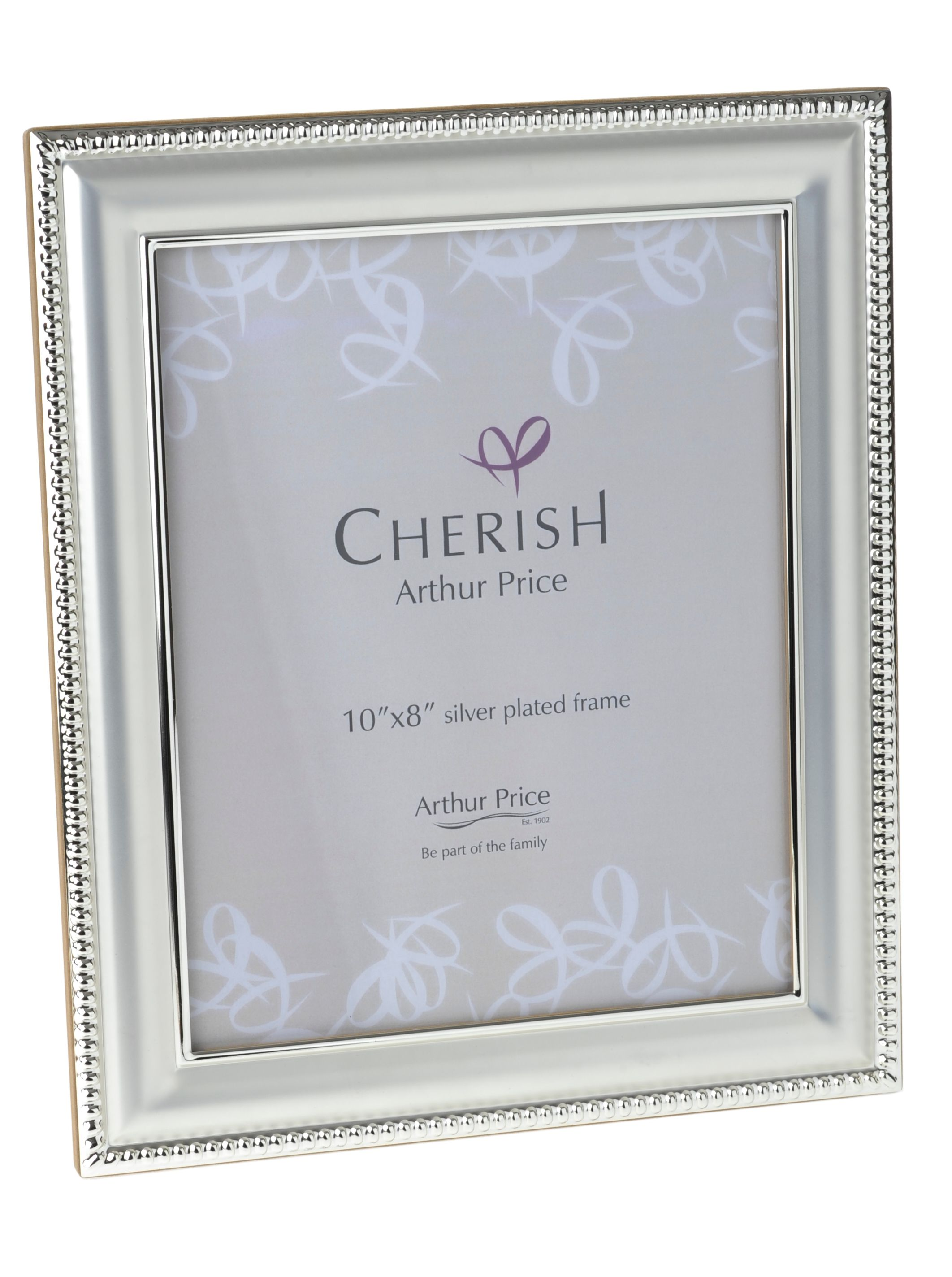 Silver plated 10 x 8 Bead photograph frame