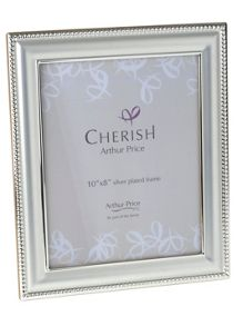 Arthur Price Silver plated Bead photograph frame 8x10