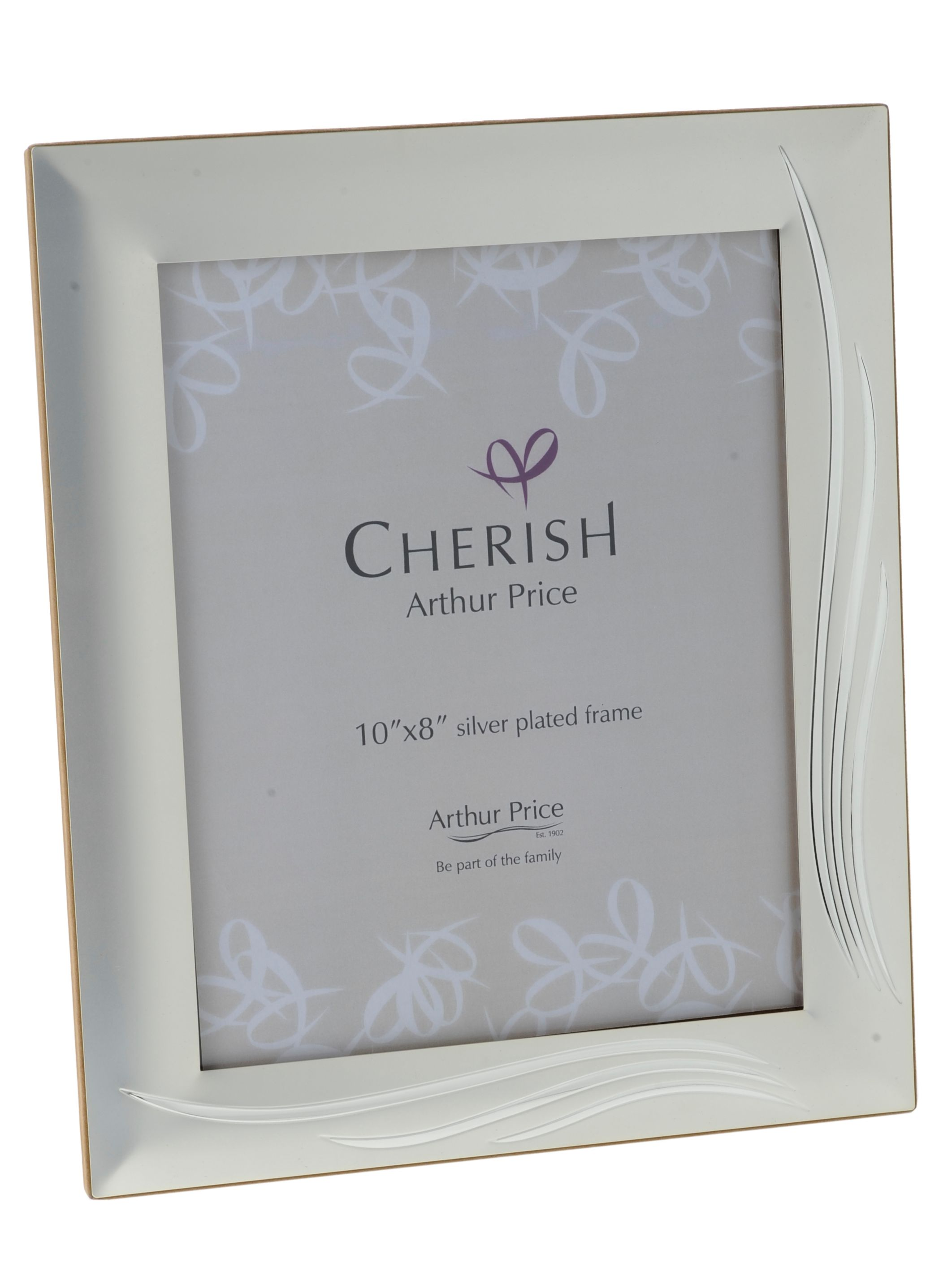 Silver plated 8 x 10 Weston photograph frame