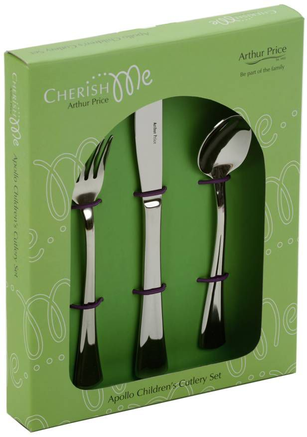 Arthur Price Apollo stainless steel childrens cutlery set