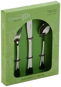 Apollo design stainless steel child`s cutlery set