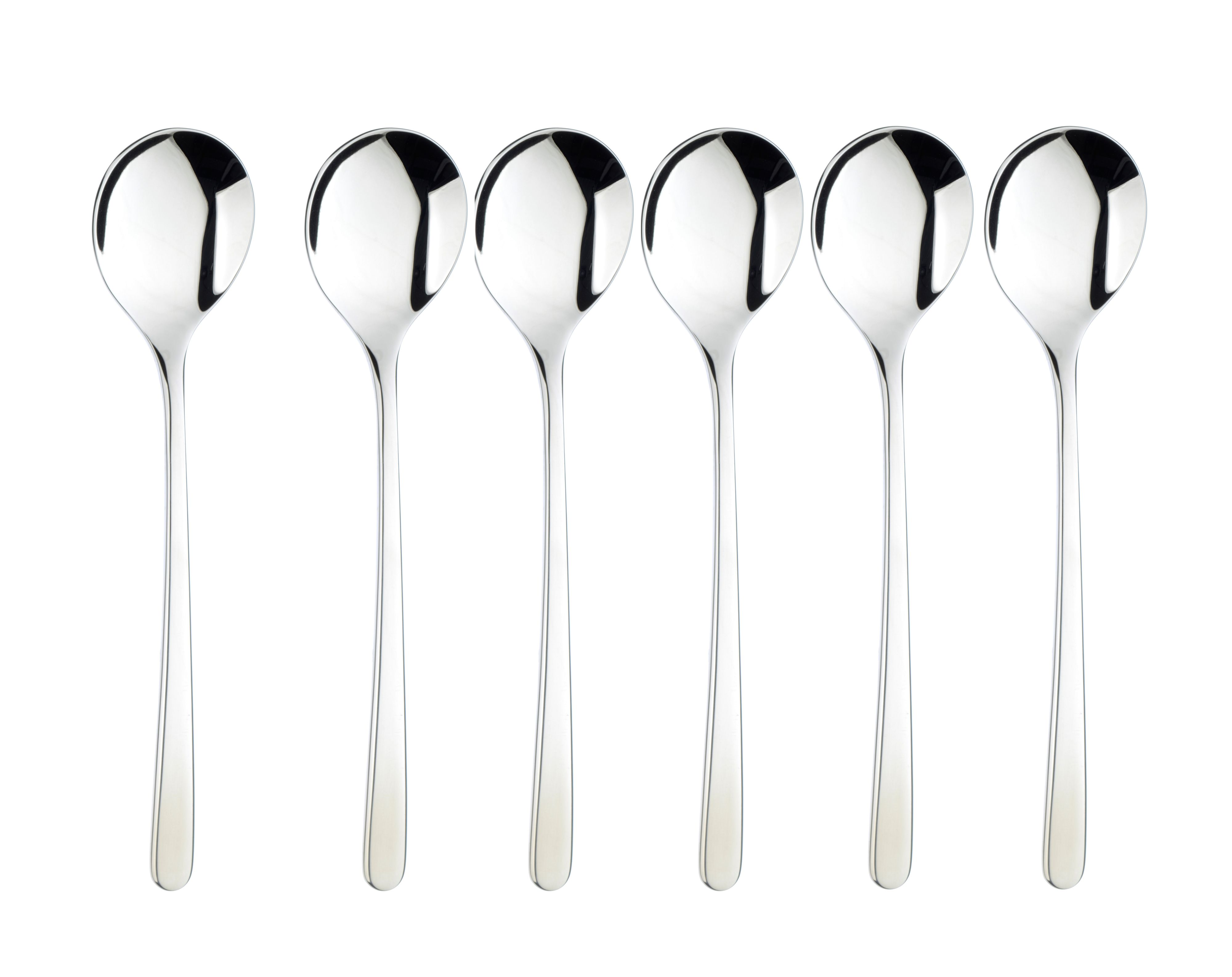 Monsoon box of 6 stainless steel latte spoons