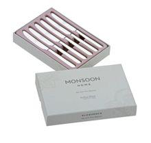 Monsoon box of 6 stainless steel tea knives