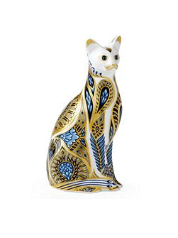 Bluepoint siamese cat paperweight