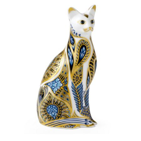 Royal Crown Derby Bluepoint siamese cat paperweight