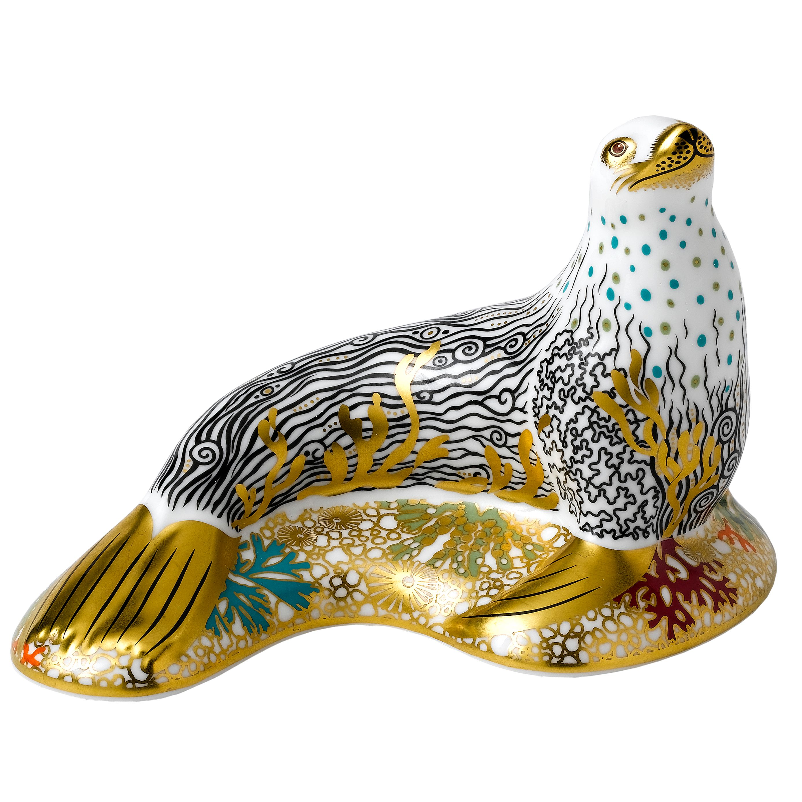 White sea lion paperweight