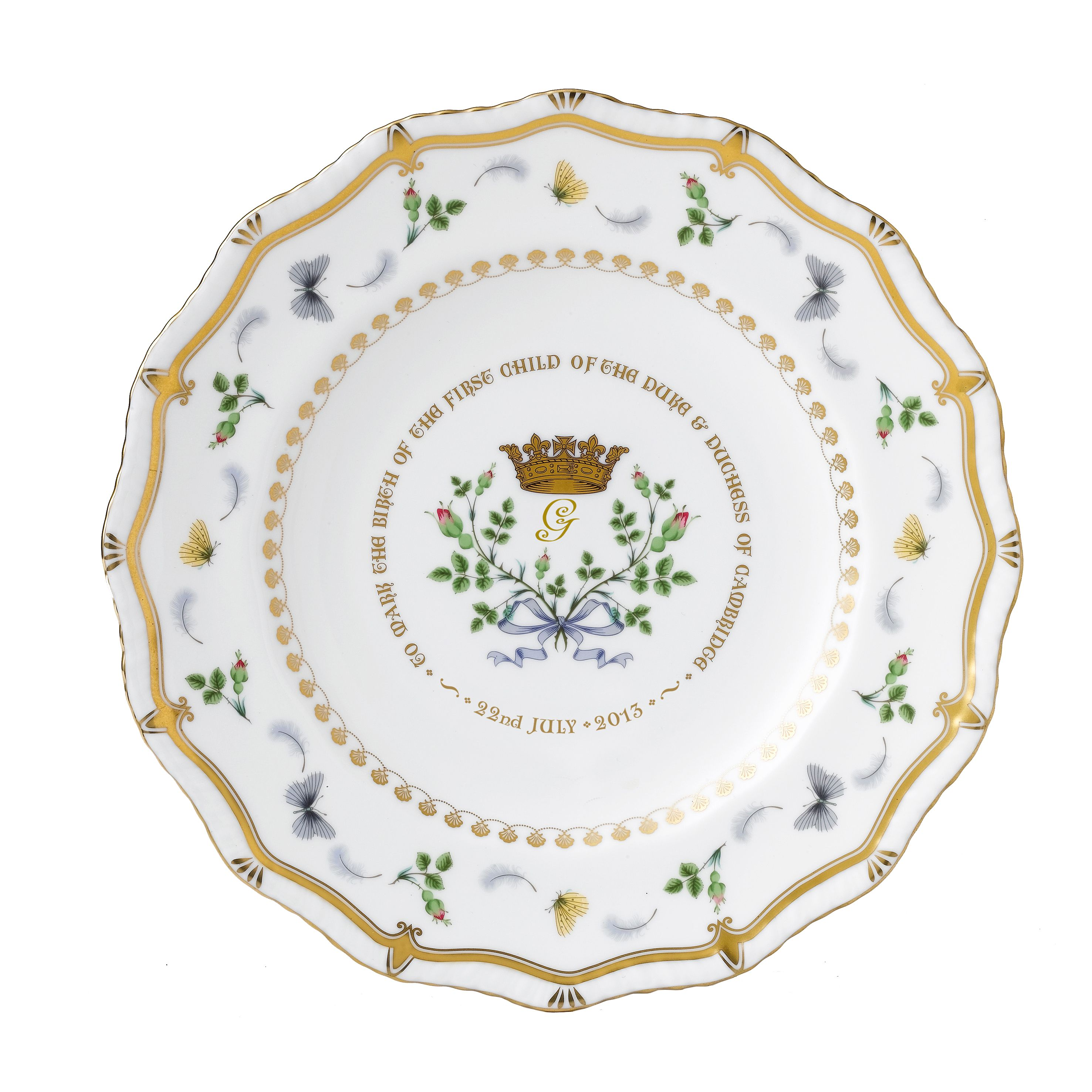 Image of Royal Crown Derby Gadroon plate limited edition