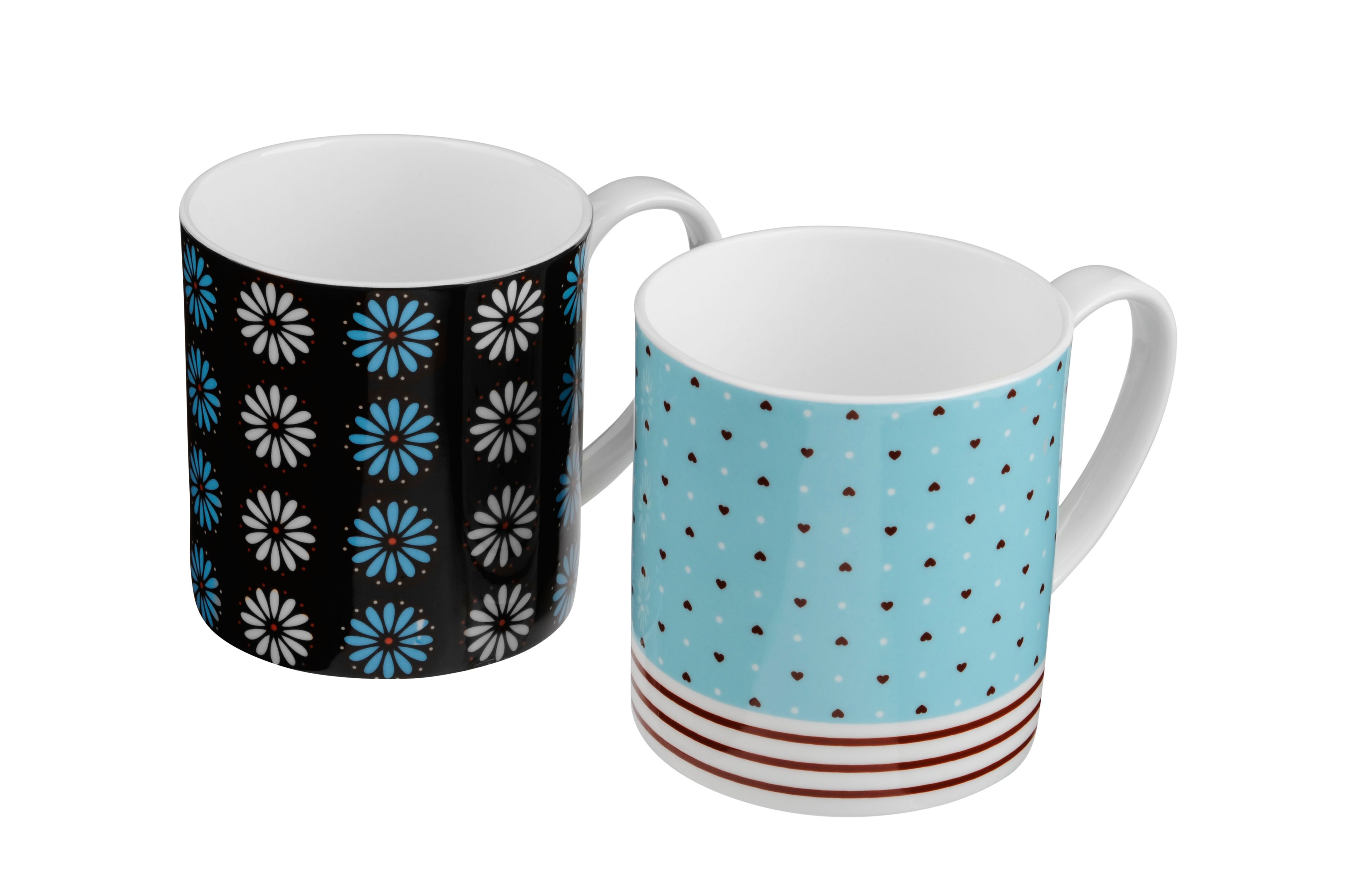 Pair of bone china Oceania mugs