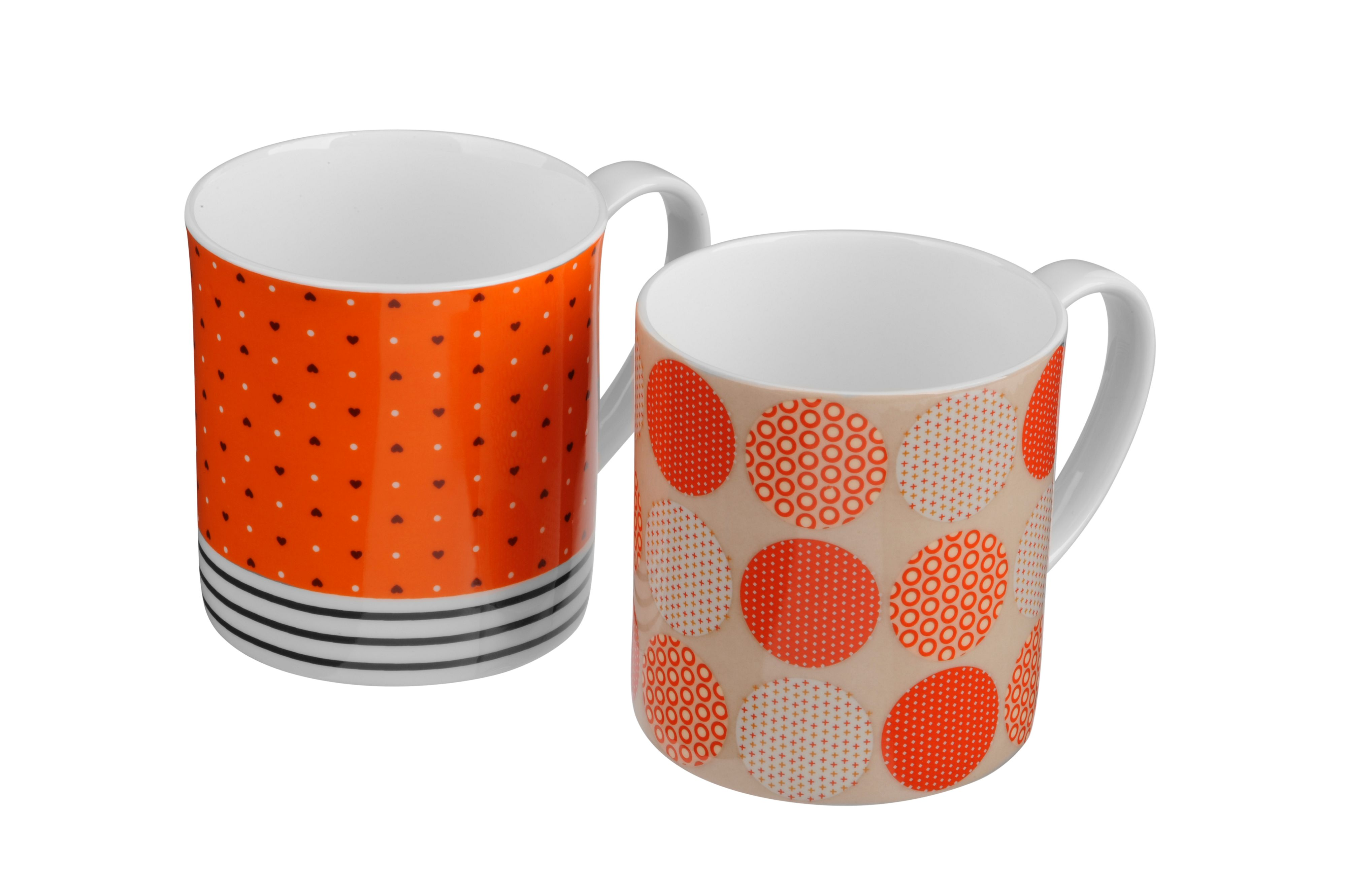 Pair of bone china Rio mugs