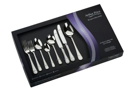 Arthur Price Britannia 44 pce 6 person stainless steel cutlery
