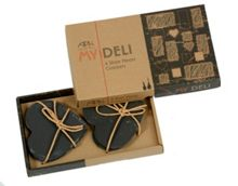 Arthur Price My deli set of 4 slate heart coasters