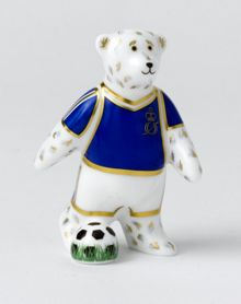 Royal Crown Derby Footballer blue bear
