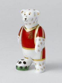 Royal Crown Derby Footballer red bear
