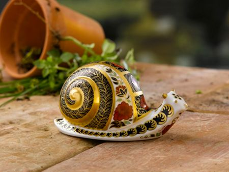 Royal Crown Derby Imari snail