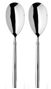 Arthur Price Valentina stainless steel pair of servers