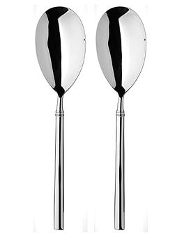 Valentina stainless steel pair of servers