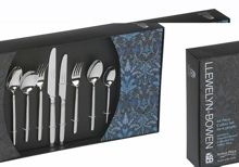 Valentina 44 pce stainless steel 6 person box set