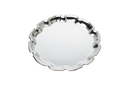 Arthur Price Silver plated 10 inch chippendale salver