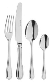 Arthur Price Britannia box of 4 stainless steel serving spoons