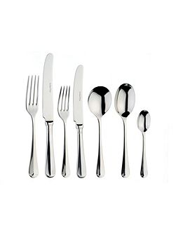 Rattail box of 4 stainless steel serving spoons