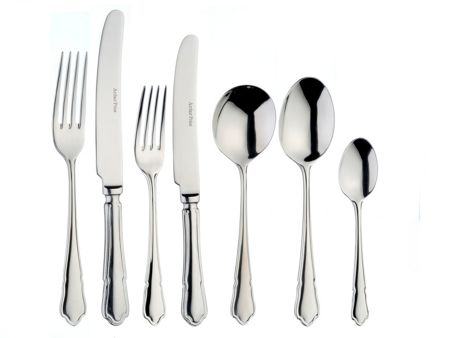 Arthur Price Dubarry box of 4 stainless steel serving spoons