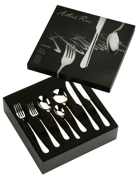 Arthur Price Camelot 56 piece stainless steel 8 person box set