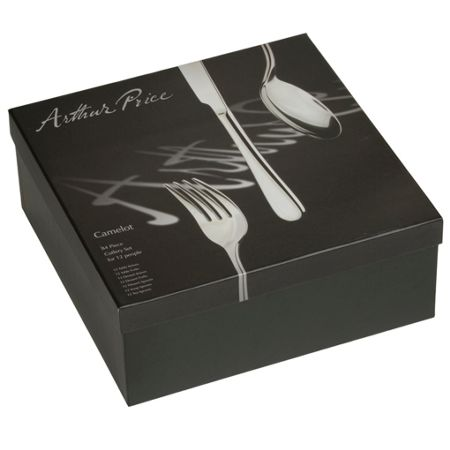 Arthur Price Camelot 84 pce stainless steel 12 person box set