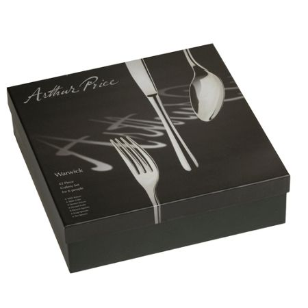 Arthur Price Warwick 42 piece stainless steel 6 person box set