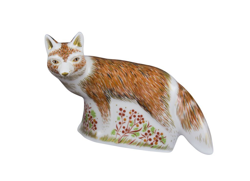 Image of Royal Crown Derby Fox mother paperweight
