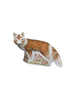 Fox mother paperweight