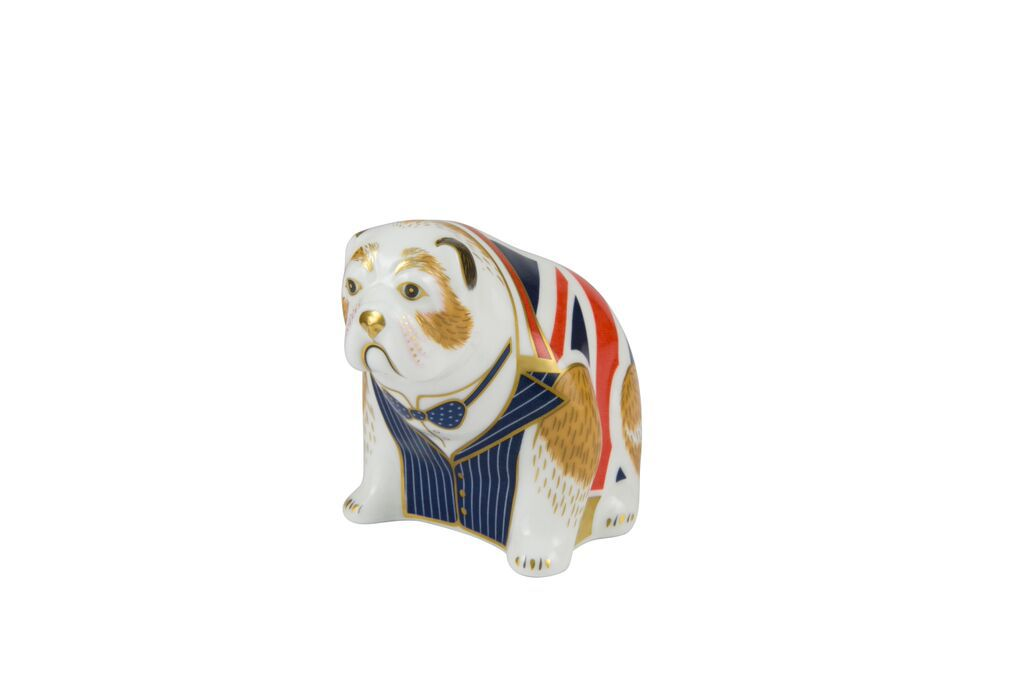 Image of Royal Crown Derby Churchill bulldog paperweight